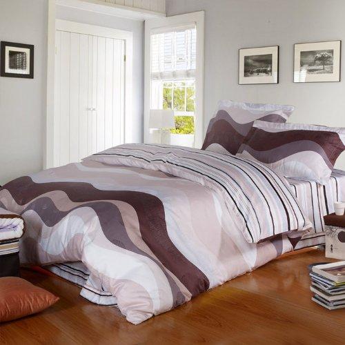 皇冠寝饰-欧式典雅-活性大提花印花床品四件套-床上