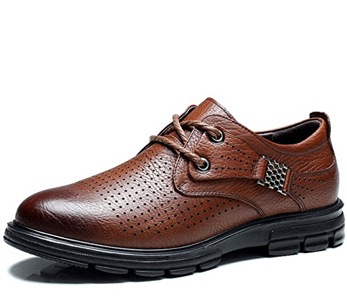 Mulinsen 木林森 英伦男士夏季系带低帮冲孔透气复古经典头层牛皮真皮商务休闲鞋正装鞋皮鞋单鞋男鞋子