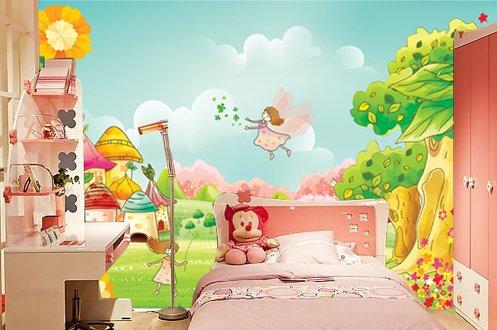 手绘壁画卧室公主