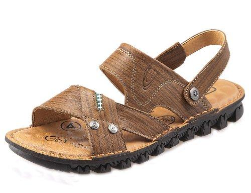 Camel active 骆驼动感 时尚英伦超酷流行户外凉拖 舒适透气休闲鞋 头层牛皮手工凉鞋 真皮沙滩凉鞋 男鞋
