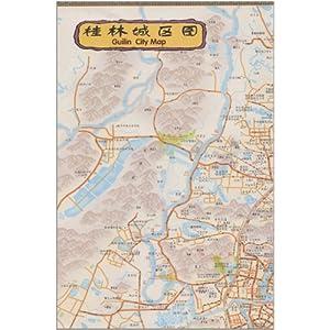 大桂林旅游手绘地图(中英文对照)