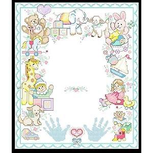 万众家园 十字绣 客厅卧室卡通画 儿童房 宝宝手脚印3