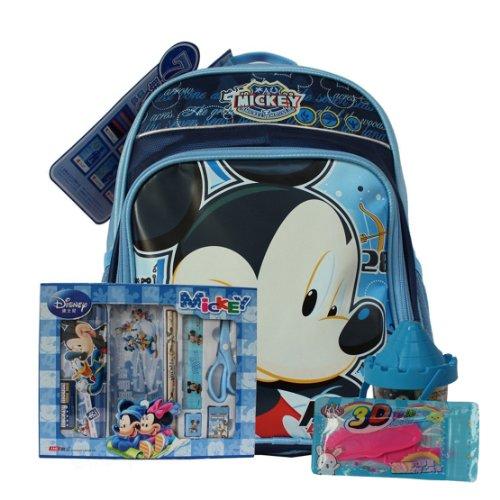 disne y迪士尼 小学生书包套装 6色智高3d彩泥 0011文具礼盒套装组合