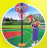 HABIBI 儿童可升降篮球架(纸板)室内篮球架  投篮玩具 配篮球 配打气筒 体育玩具 儿童室内投篮玩具-图片