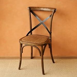 美式实木铁艺餐椅欧式手工藤面家具