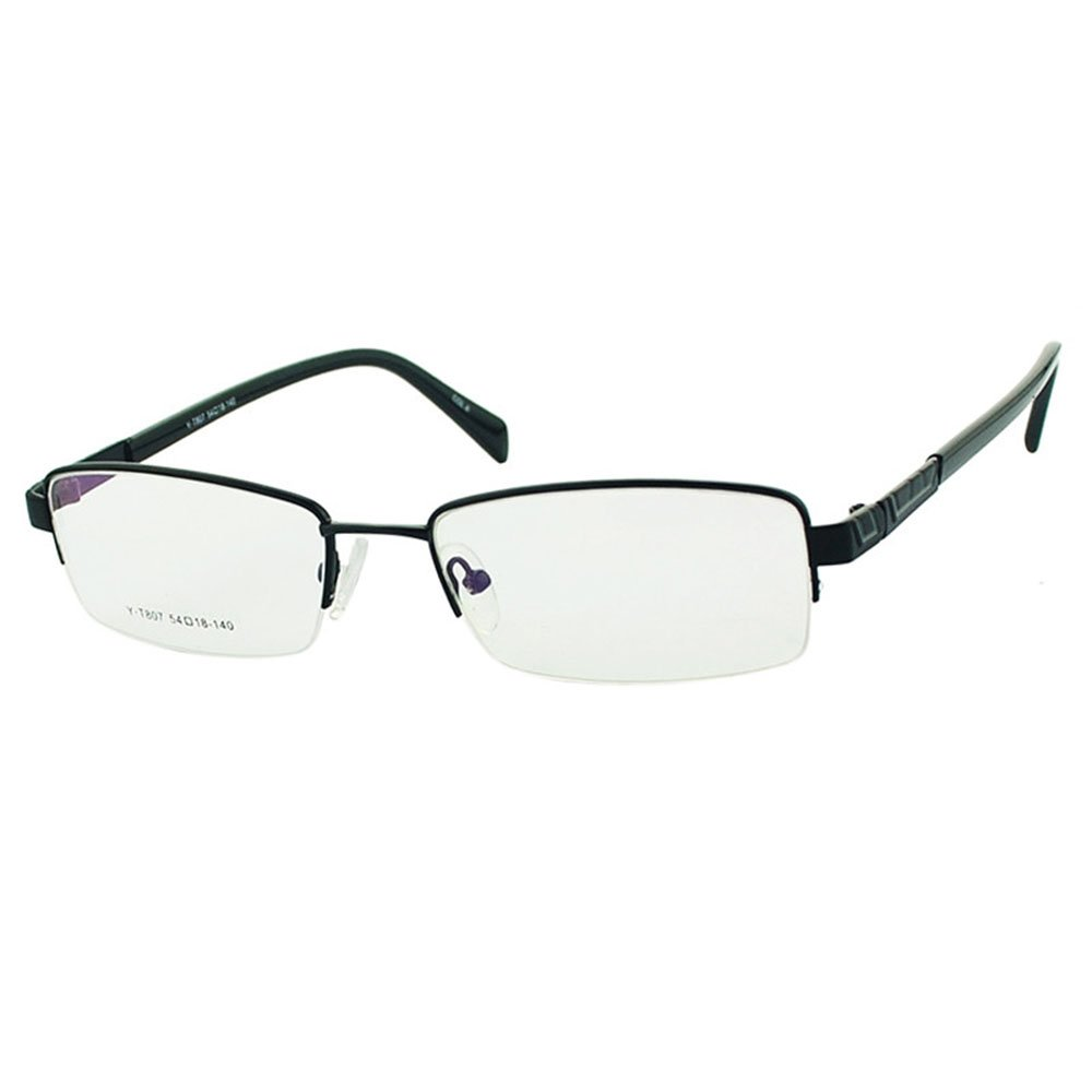 宝贝计划 半框近视眼镜框男眼镜架女眼睛厚金银枪色光学镜架y-t807