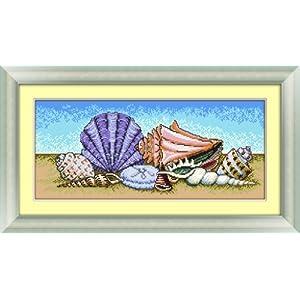 多美绣 dmc法国进口绣线 十字绣 风景-沙滩贝壳 (9月新图) 11ct 米