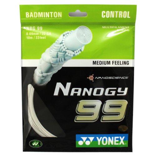 Yonex 尤尼克斯 羽毛球线 BG-99 羽毛球线 白色