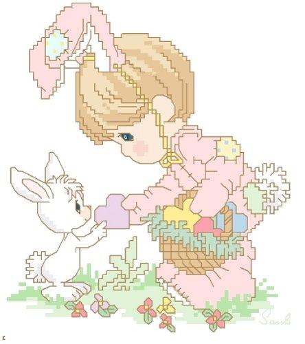 万众家园 十字绣 客厅动物画 儿童房 兔宝宝 11ct 朵拉线 3股