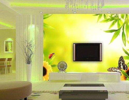 暖色壁纸 客厅 电视背景墙 餐厅风景壁画 甲壳虫 韩国lg浮雕墙纸