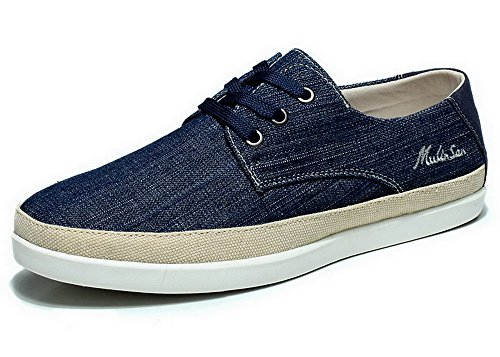 Mulinsen 木林森 春夏季男士帆布鞋 时尚休闲鞋 男式低帮鞋 韩版超透气布鞋男 3L0140377
