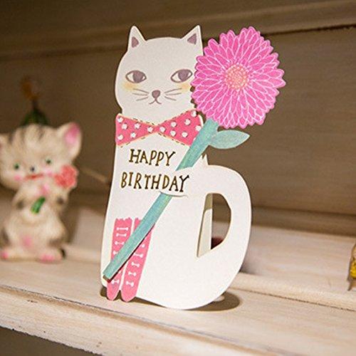 孩派 韩国文具 可爱卡通天使 猫咪diy吊卡 纸相框 创意礼品贺卡 (白猫