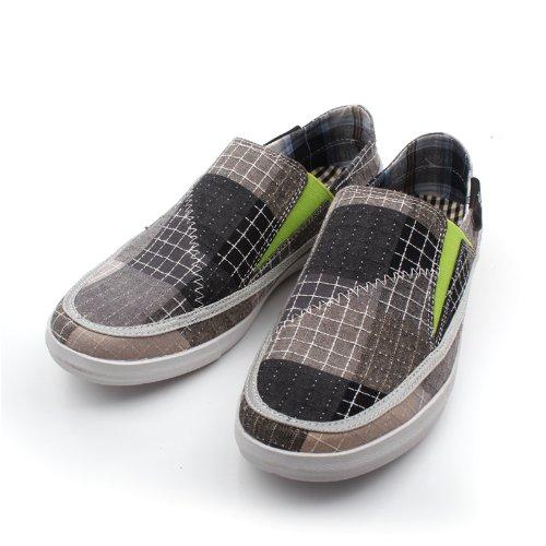 NORVINCY 诺凡希 格纹男士布鞋低帮鞋乞丐鞋时尚潮流男鞋 NVC12112 3.28