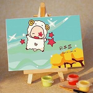 佳彩天颜 diy手绘数字油画 儿童卡通手绘画十二星座-白羊座 白羊座 10