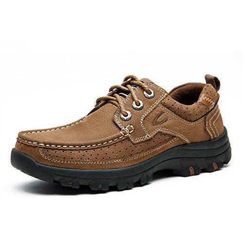 德国 骆驼 动感男鞋 春季男士户外休闲鞋大头皮鞋 男工装鞋低帮鞋子男2081