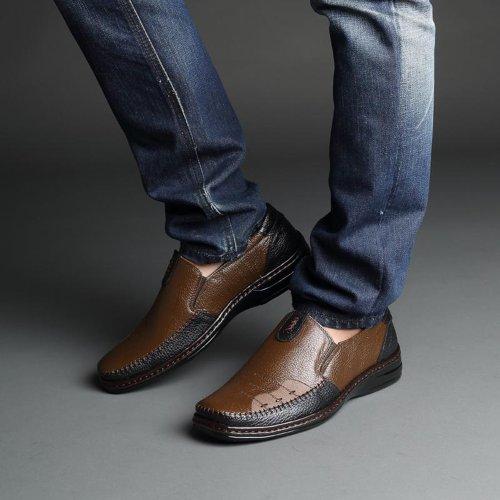 Yulu 优牛 时尚潮流英伦休闲商务皮鞋真皮低帮正装皮鞋套脚男鞋
