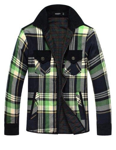 SHENGUI 绅贵 2013春装新款 撞色拼接男装加厚加棉衬衫 韩版保暖衬衣 男