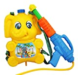 HABIBI 大号超远射程背包式水枪 气压水枪  高压 儿童夏日戏水玩具(绿色,黄色随机发随机发)-图片