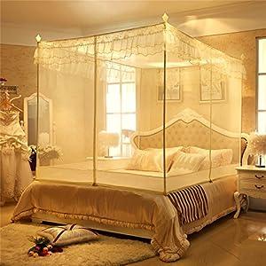 yota 星月兔 超大空间坐床式宫廷蚊帐 三开门隔蚊层设计 360度全包裹图片
