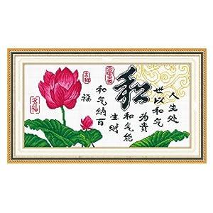 恋美印布十字绣 36373和纳百福(图案印在布上无需画格) 中格 11CT