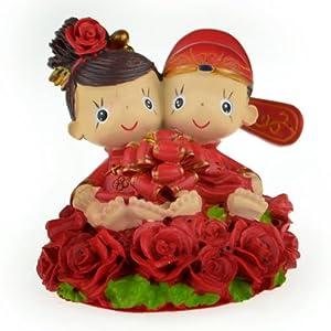 结婚礼品 玫瑰上的小娃娃系列