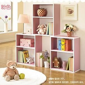 儿童书柜 彩色储物柜自由组合韩式宜家柜子