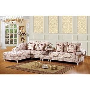 欧式沙发古典美式沙发韩式田园布艺组合