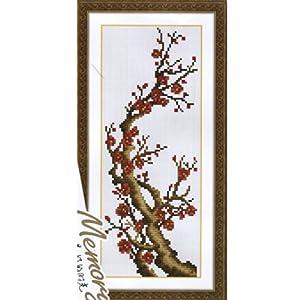 印象 十字绣精准印花系列 梅 MH057 11CT 22*42cm 免画格