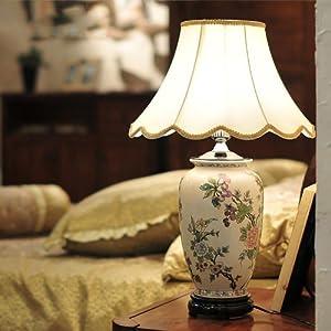 墨菲家居 欧式陶瓷台灯创意卧室灯床头灯现代简约台灯
