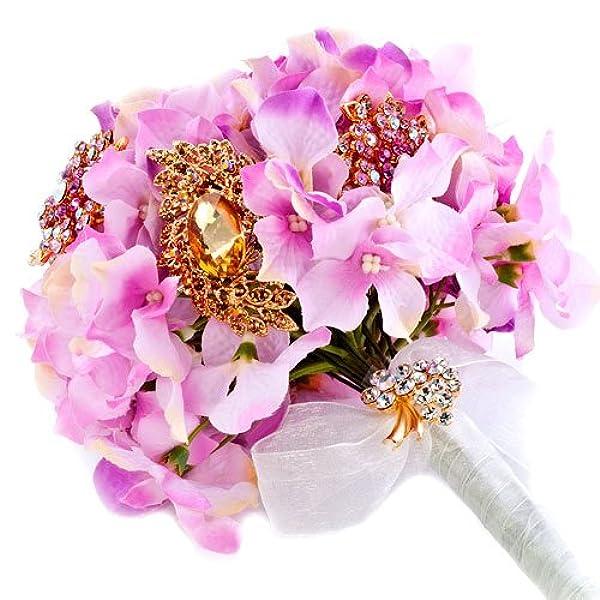 水晶 新娘手捧花 欧式婚庆结婚用品 粉红色 搭配胸针 根据需要选择
