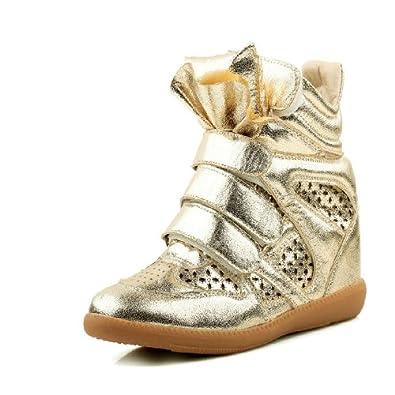 休闲鞋女鞋高帮鞋魔术贴女韩版百搭透气运动鞋0220-9