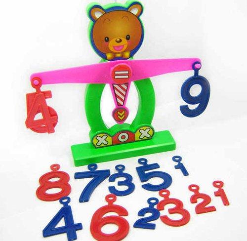 HABIBI 小熊数字天平秤 儿童益智玩具 早教启蒙-图片