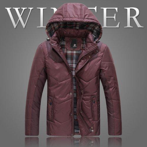 超值 潮流新 品 13冬季内衬格男保暖加厚棉衣棉服外套可脱卸帽