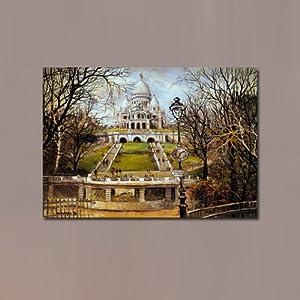 美时美刻 欧式宫殿油画风格 客厅卧室装饰画 楼梯挂画