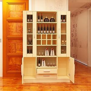 【东彩】简约现代环保板式餐厅家具酒柜多功能储物柜现生产可定制酒柜图片