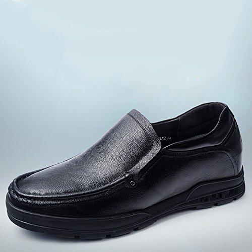 Gog 高哥 隐形内增高男士鞋子6cm商务休闲皮鞋 高哥增高鞋男式套脚懒人鞋