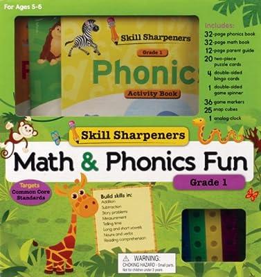 Skill Sharpeners Math and Phonics Fun: Grade 1.pdf