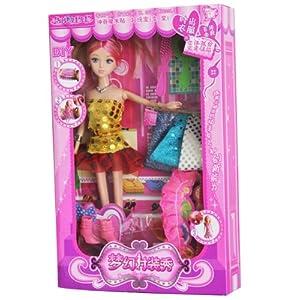 艺祺娃娃 梦幻时装秀 芭比娃娃 小小时装设计师 玩具礼盒(颜色随机)7号