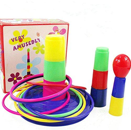 HABIBI 亲子层叠套套圈 七彩套环 锻炼手眼 儿童益智玩具套圈-图片