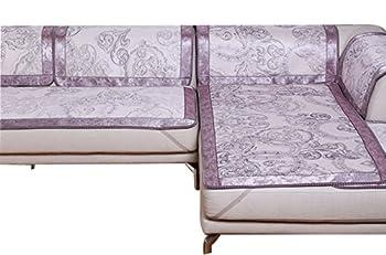 沐馨 欧式冰丝沙发凉席 紫色60*60cm