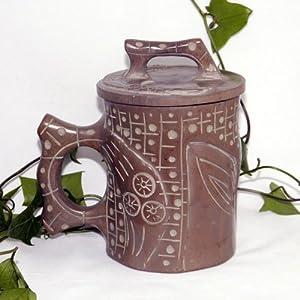 天匠 紫檀木鱼石杯子茶杯木鱼石水杯复古杯木鱼石树皮