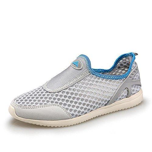 夏季情侣款时尚休闲网鞋超透气舒适平底休闲女鞋低帮男女运动跑步鞋沙滩鞋