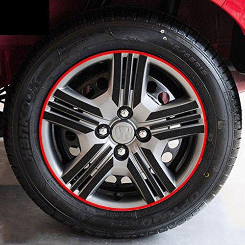 snblo 07-14款本田飞度轮毂贴 新飞度碳纤维轮毂车贴