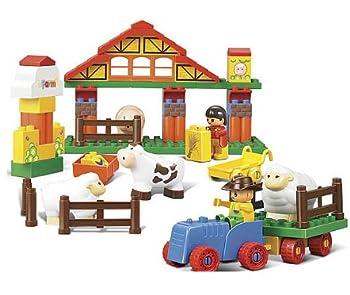 商品小鲁班拼插积木 欢乐农场系列 55块积木 m38-b6005