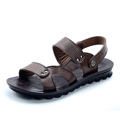 MULINSEN 木林森 男士凉鞋真皮透气休闲鞋百搭沙滩鞋 242019