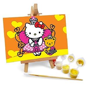 自油自画 diy手绘数字油画特价 七夕情人节礼物多款任选儿童画 kt猫