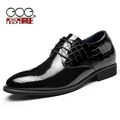 Gog/高哥内增高鞋男式 男士内增高皮鞋 隐形内增高男鞋6.5CM 42427