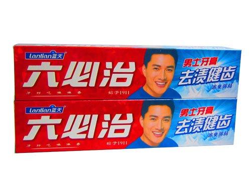 蓝天六必治 去渍健齿男士牙膏100g*2图片