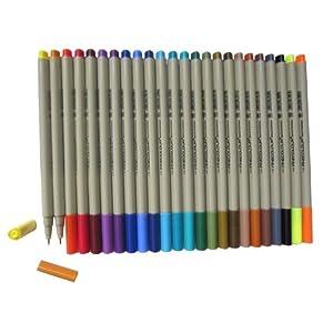 此勾线笔可与彩色铅笔或者和法卡勒马克笔搭配使用勾线而不渗透