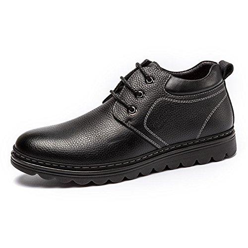 MULINSEN 木林森 男鞋商务休闲皮鞋男加绒保暖耐磨系带韩版休闲鞋子